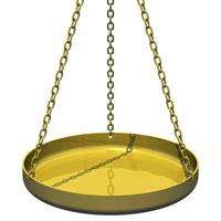 Le plateau de la balance de la justice
